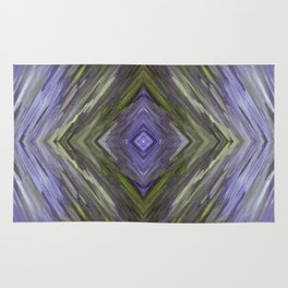 Claret and Moss Waves Rug
