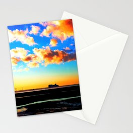 Belfast Ferry at Sunset Stationery Cards