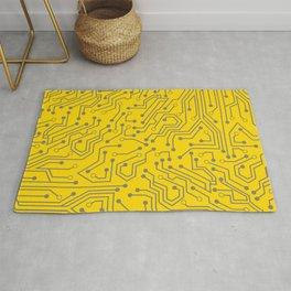 Saffron Motherboard Geek Decor Rug