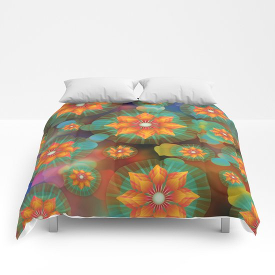Lovely Floral Pattern Comforters