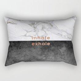 Inhale Exhale, Yoga Quote Rectangular Pillow
