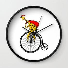Giraffe Santa Chritmas Wall Clock