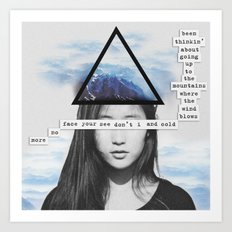 Up To the Mountains Art Print