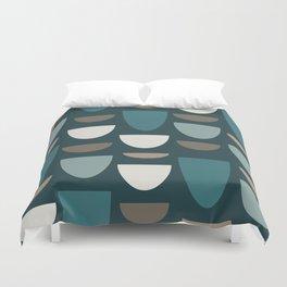 Turquoise Bowls Duvet Cover