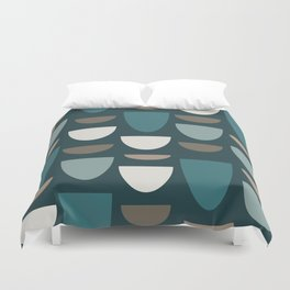 Turquoise Bowls Duvet Cover