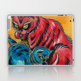 Blue and Red Cats Laptop & iPad Skin