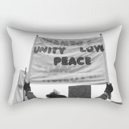 unity, love, peace Rectangular Pillow
