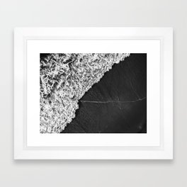 Ocean Waves in Black & White  |  Drone Photography Framed Art Print