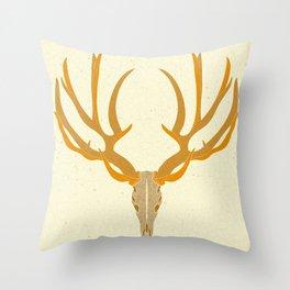 Exhibit B (Animal Skull Series) Throw Pillow
