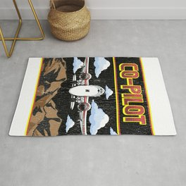 Cute Airplane Co-Pilot Awesome Copilot Friend Rug