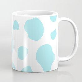 Duck Egg Blue Color Cow Print Design Coffee Mug