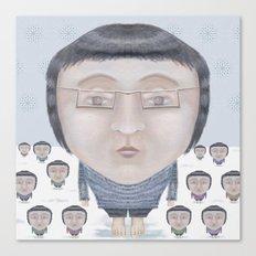 Portrait : Cold Feet Canvas Print