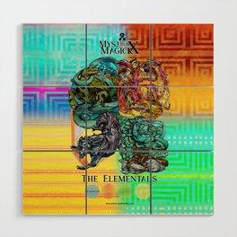 Mysticx & Magick: The Japanese Elemental Gods - Art Cover Wood Wall Art