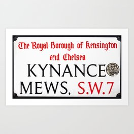 Kynance Mews  Sign Art Print