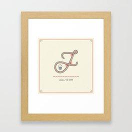 Ahoy! Letter J Framed Art Print