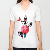 invader zim V-neck T-shirts featuring Invader Zim by Toyosato