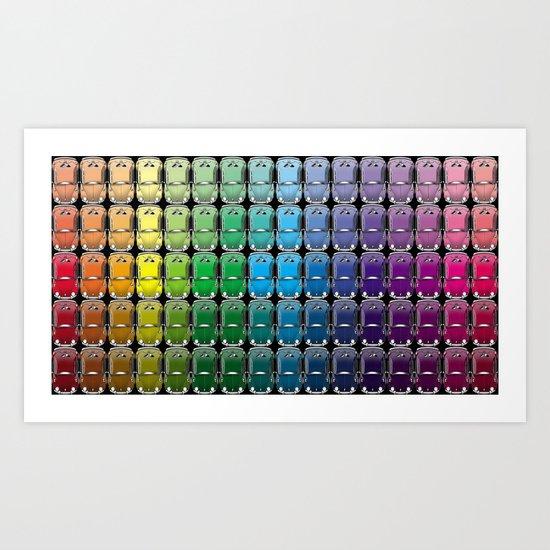 VW spectrum Art Print