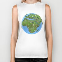 data Biker Tanks featuring Data Earth by GrandeDuc