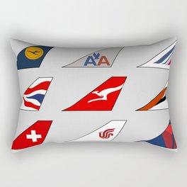 Tail Fins Collection Rectangular Pillow