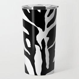 Black and white Zebra Stripes Design Travel Mug