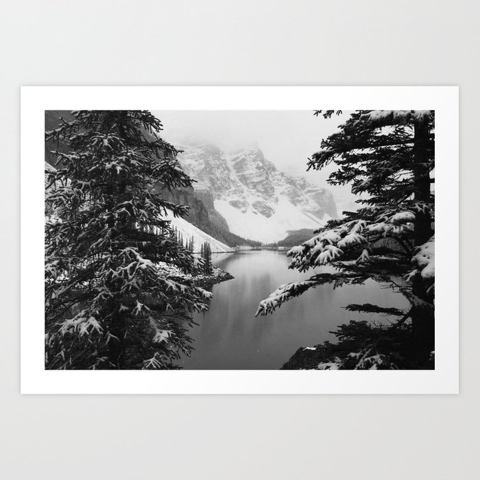 The View (Black and White) Art Print
