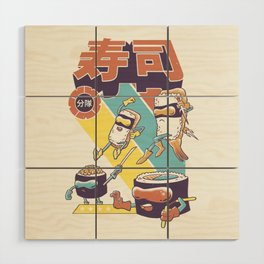 Sushi Sentai Wood Wall Art