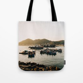 Sunset at Tai O Tote Bag