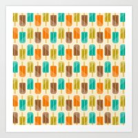 popsicle Art Prints featuring Popsicle by Liz Urso