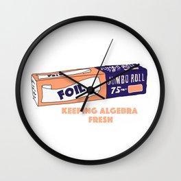 FOIL - Keeping Algebra Fresh Wall Clock