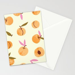Peaches watercolor vintage illustration pattern Stationery Cards