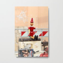 Does Pinocchio have wooden balls? Metal Print