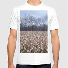 Field of Corn left Behind Mens Fitted Tee MEDIUM White