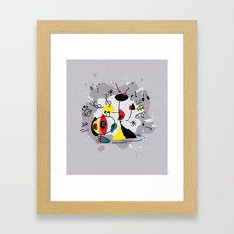 Music inspired by Joan Miro#illustration Framed Art Print