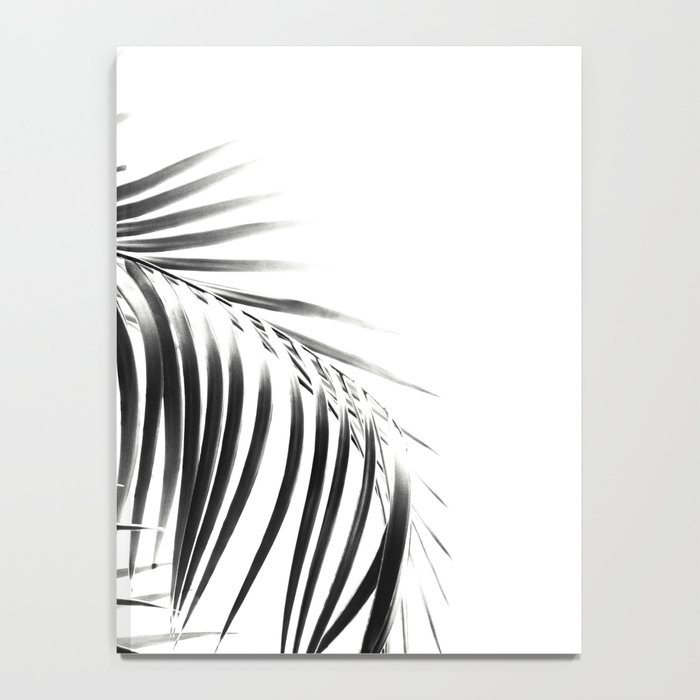 Palm Leaves Black & White Vibes #3 #tropical #decor #art #society6 Notebook