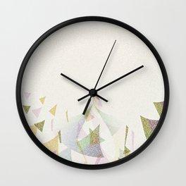 #Retro flying  #triangles Wall Clock