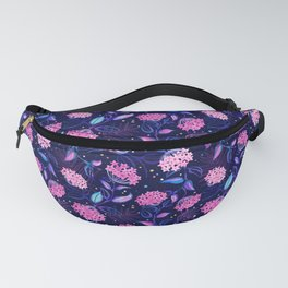Tropical Midnight with Hoya Blossoms Fanny Pack