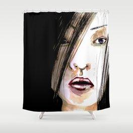 Jap Girl  Shower Curtain
