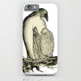 Bird Family on Nest iPhone Case