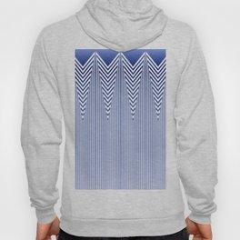 Art Deco Geometric Arrowhead Blue Pattern Hoody