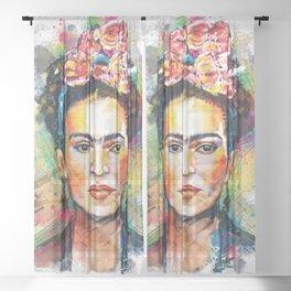 Frida Kahlo Portrait Sheer Curtain