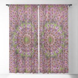 Abstract Circus Mandala Painting Sheer Curtain