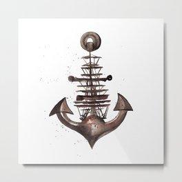 Ship's Anchor Metal Print