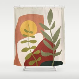 Two Abstract Branches Shower Curtain