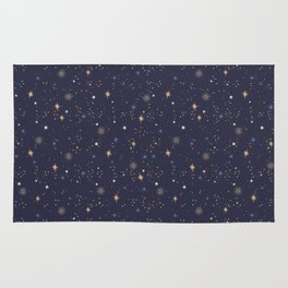 Endless dark outer space with shining stars Rug
