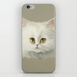 My White Cat's Face iPhone Skin