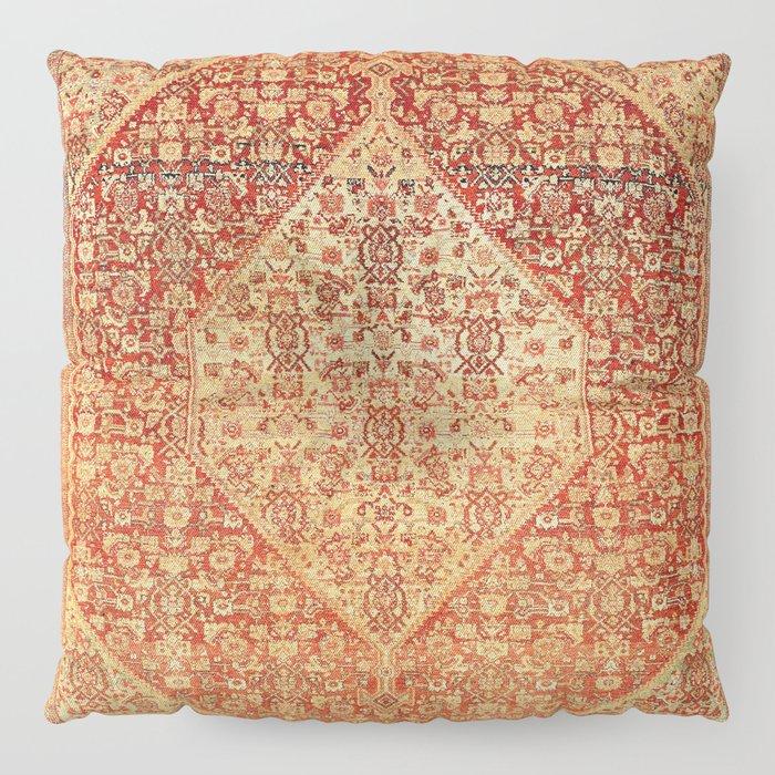 Sehna Saronim Kurdish Northwest Persian Rug Print Floor Pillow