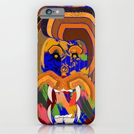 lion head of the king of the jungle iPhone Case