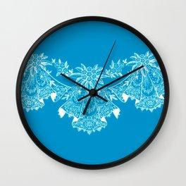 Vintage Lace Hankies Blue Wall Clock