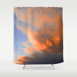 Pyrocumulus Cloud (Fire Cloud) in Cherry Valley, California Shower Curtain