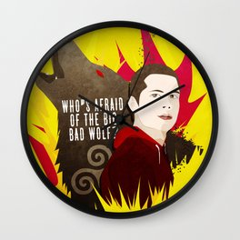 Sterek: Who's Afraid of the Big Bad Wolf? Wall Clock